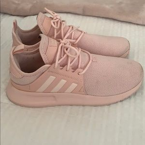 Adidas baby pink shoes